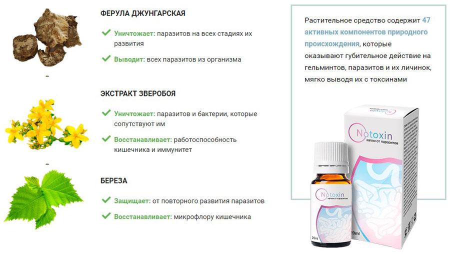 Notoxin от паразитов 3